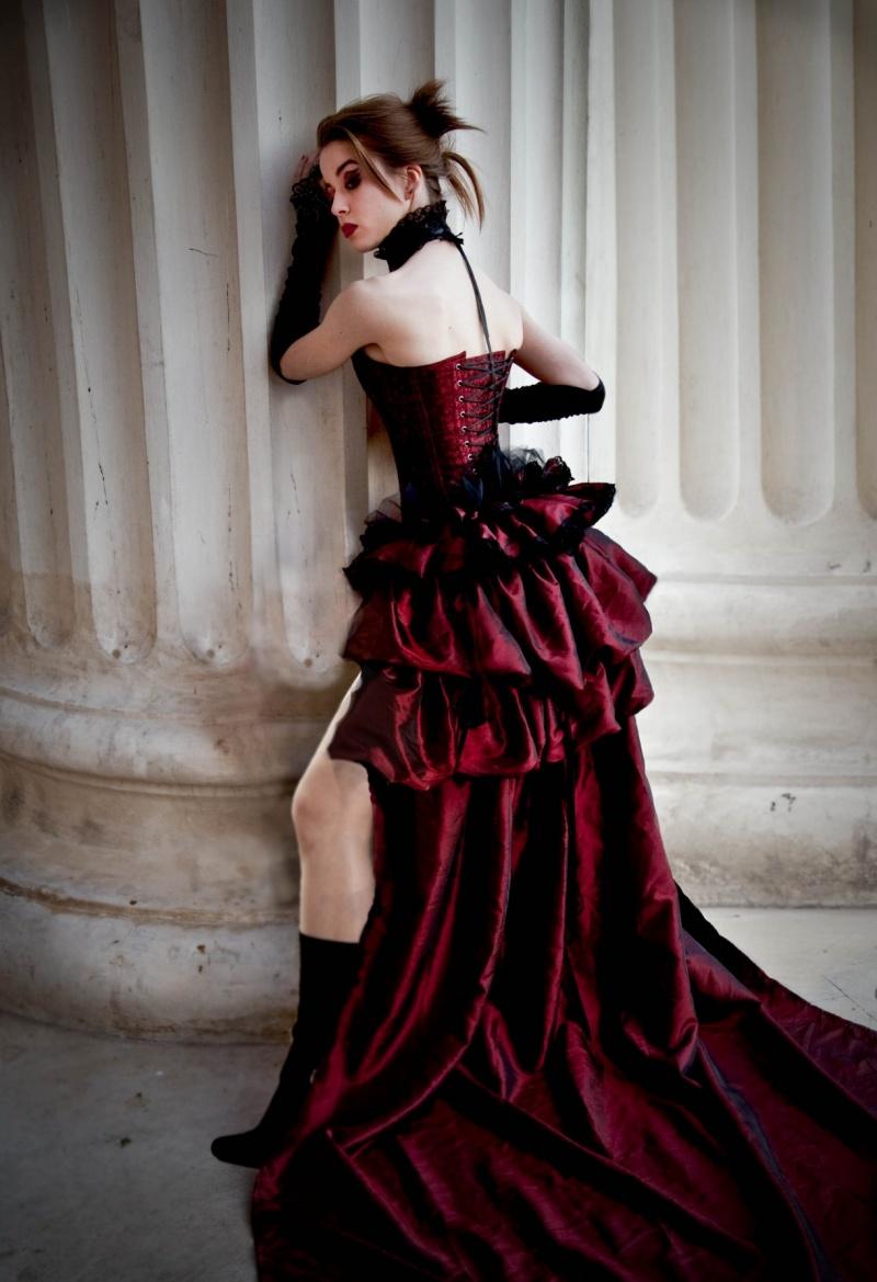 Opera House, Bucharest, Romania. Apr 15, 2010 Pic by Andreea Virna. Model Alice Gocea. Lonesome Dove Saloon bustle.