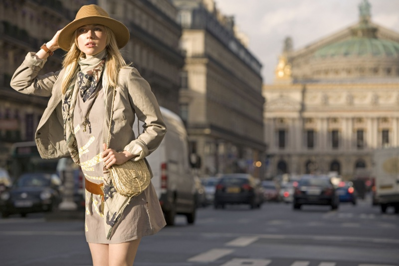 Female model photo shoot of Magda Kulpinska in Paris