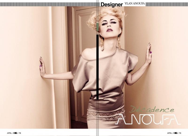 Female model photo shoot of Magda Kulpinska in Paris