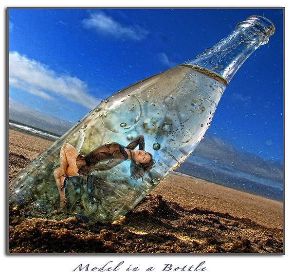San Diego Wind and Sea Beach Apr 18, 2010 Model In A Bottle