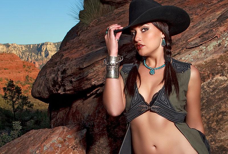 Sedona, AZ Apr 19, 2010 mark short fotographfx Red Rock Cow Girl