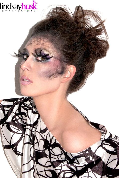 Female model photo shoot of _Devon_ by Lindsay Husk, makeup by Stefani D