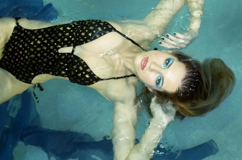 Female model photo shoot of Lenka Lukacova by VADELLA PHOTO, makeup by Shana Lohr