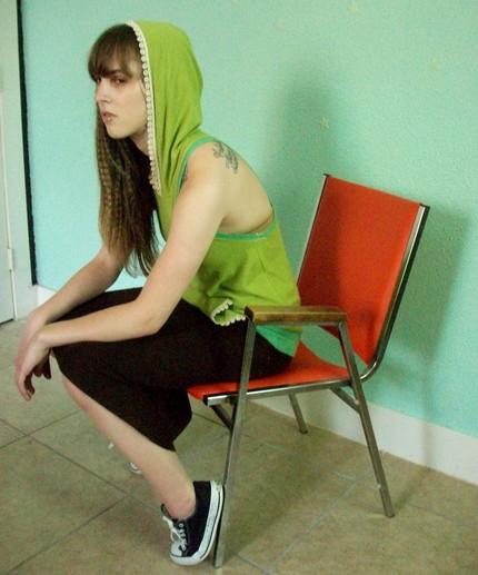Female model photo shoot of KatastrophicDesign in my studio