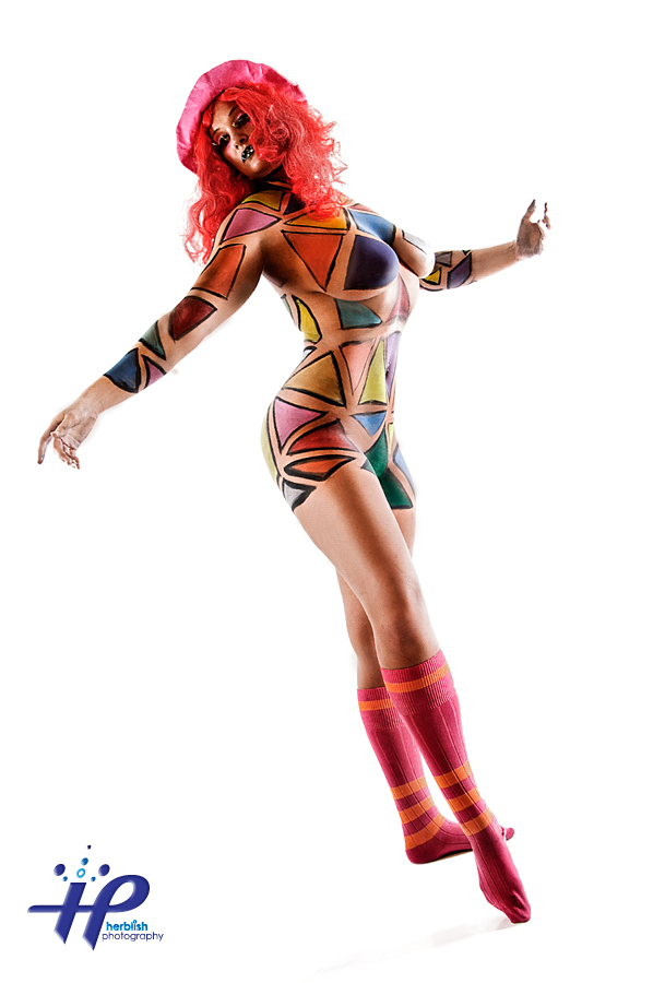 HERBELICIOUS STUDIOS Apr 27, 2010 ©2010 Herbie Martin Sabrina - Breaking Colors (Body Painting by Herblish)