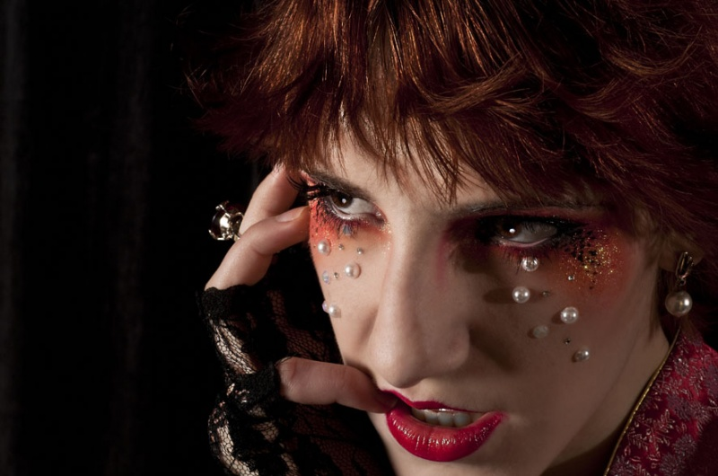 Male and Female model photo shoot of inmagine and Lily Avengale, makeup by Dead Heaven MUA