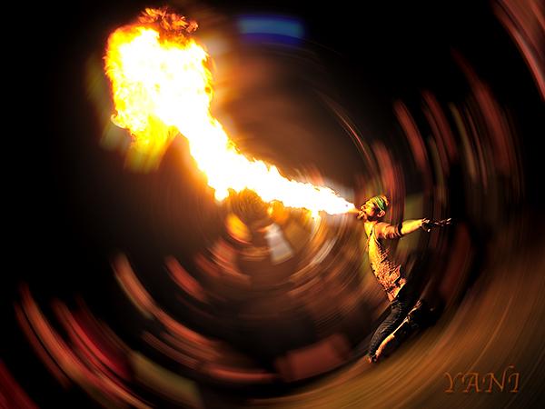 Isla Vista May 02, 2010 Yani Searles Flaming Tongue