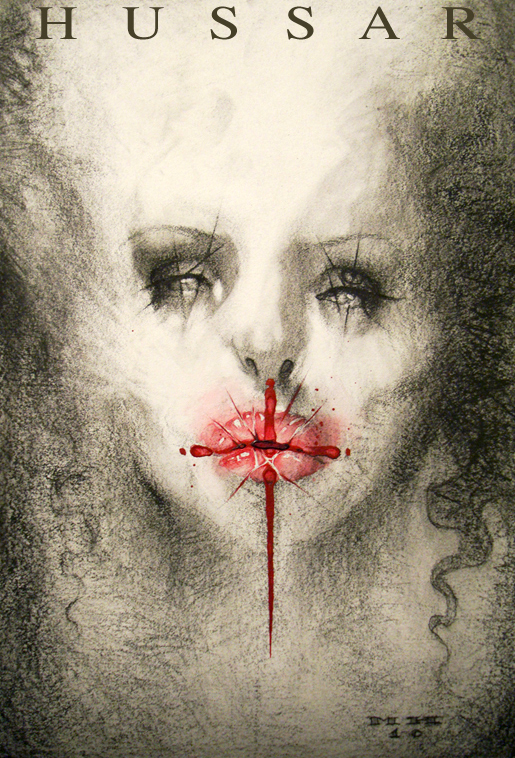 May 04, 2010 Michael Hussar Meghan 2010 10x7 charcoal, mixed media on paper by MICHAEL HUSSAR