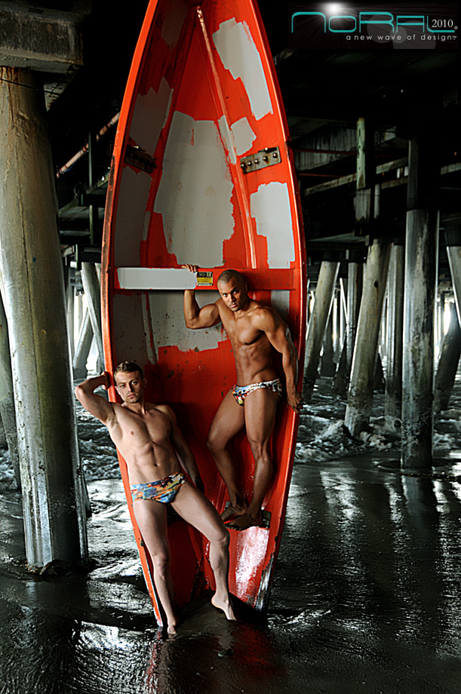 Santa Monica Pier, CA May 04, 2010 NoRal2010 Written on Water (WOW) Graffiti Swimwear Line