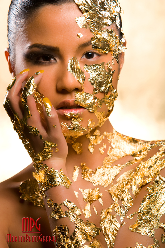 my studio - Florence - Italy May 05, 2010 Marco Morittu - MorittuPhotoGraphy Gold Finger Beauty shooting