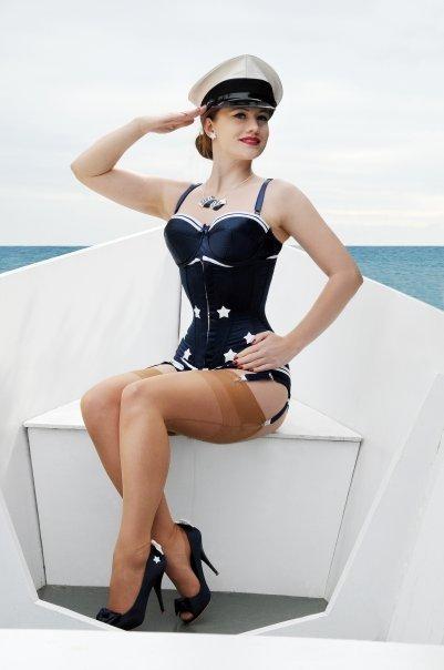 May 12, 2010 Tony Rusecki Miss Fan Teasy in her Booby Trapp Top Gun Corset