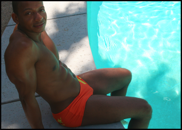 Male model photo shoot of A Michael Robinson in Palm Springs