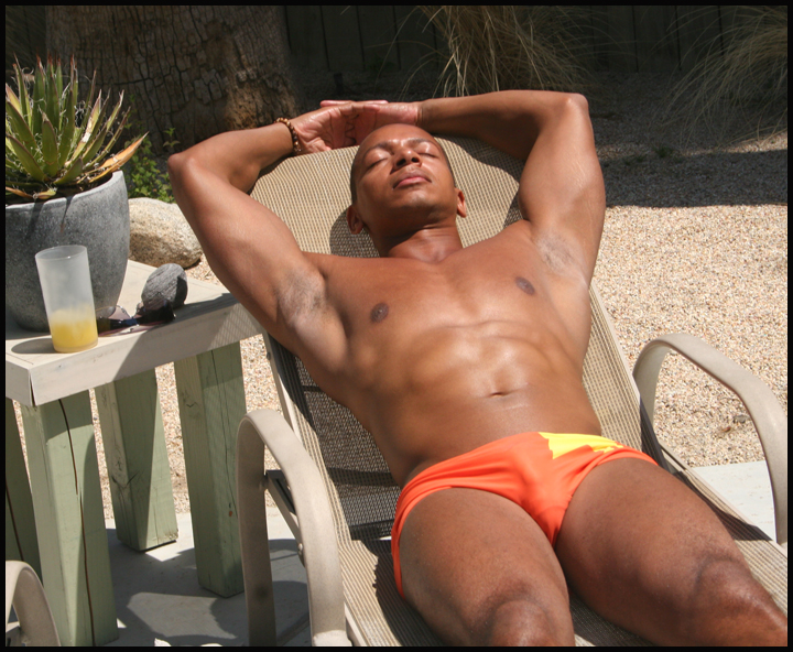 Male model photo shoot of A Michael Robinson by Tom Bianchi in Palm Springs