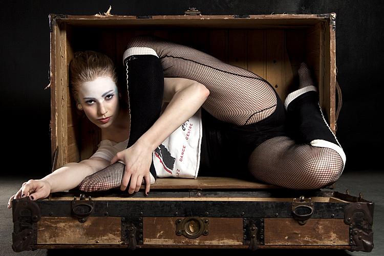 Female model photo shoot of Dislocait by Sarah DeVenne in Aperture Studios