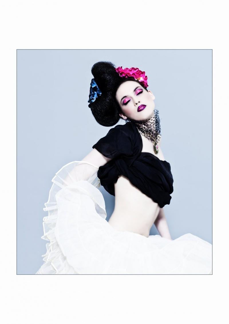 Female model photo shoot of Charlie Banks in Edinburgh, makeup by Tatiana Ashakova