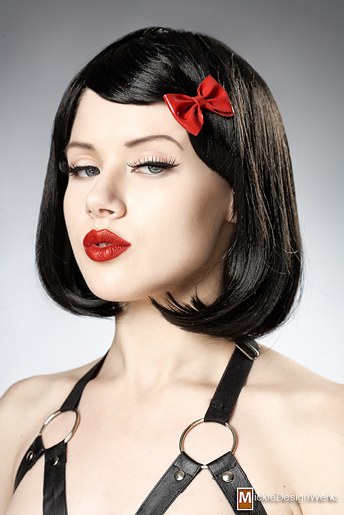 May 19, 2010 Mosh with red latex bow clip