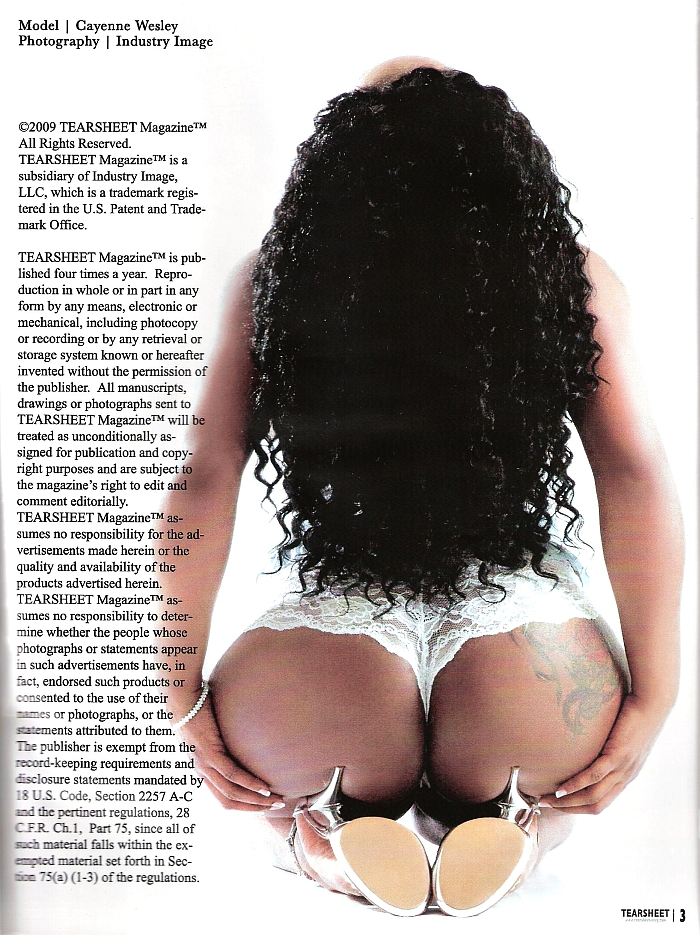 SEE MORE MAGAZINE FEATURES ON MY WEBSITE!!! May 21, 2010 TEARSHEET MAGAZINE FEATURED IN THIS EDITION