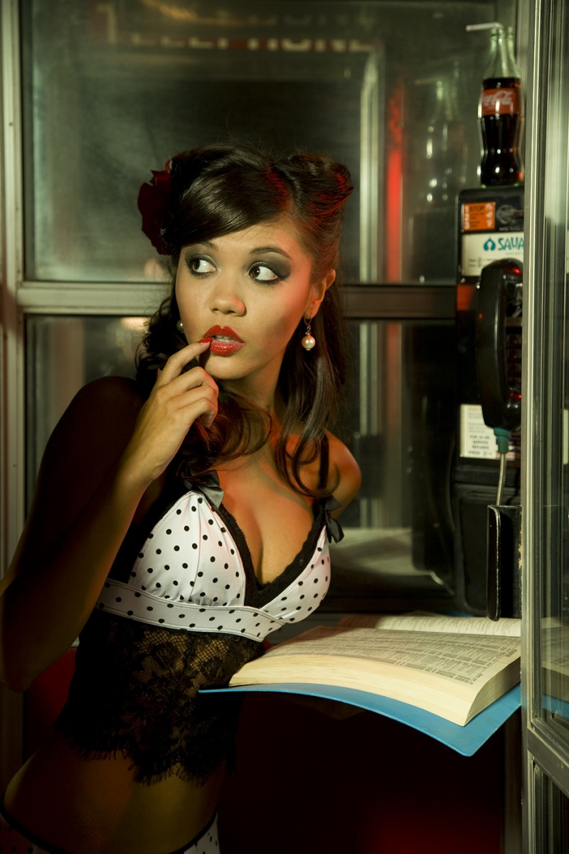 Las Vegas, Nevada May 25, 2010 Kelly Marie Photography Pin-up in Phonebooth