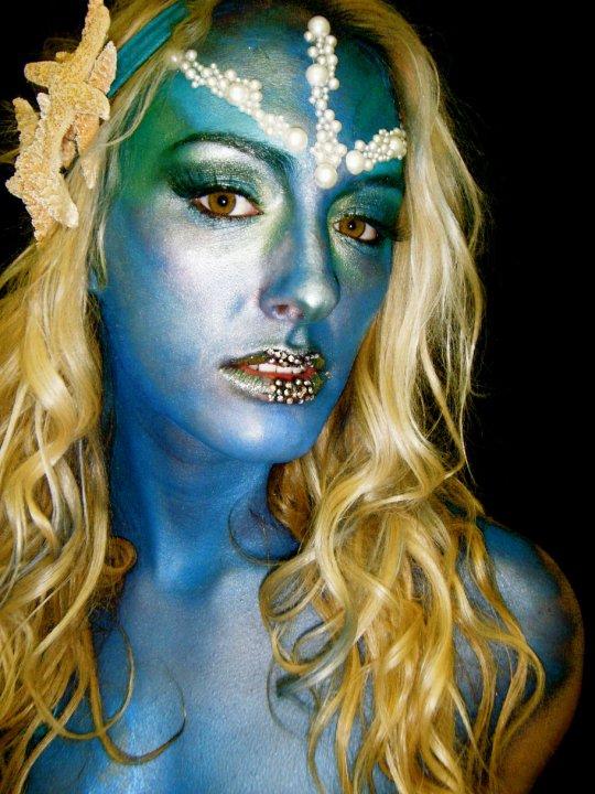 May 25, 2010 all airbush, mermaid. sea creature.