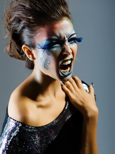 Singapore May 27, 2010 Versari Ade, Tuckys, Jen Rocking the blue - Make up & wardrobe by me , Hair by Ken