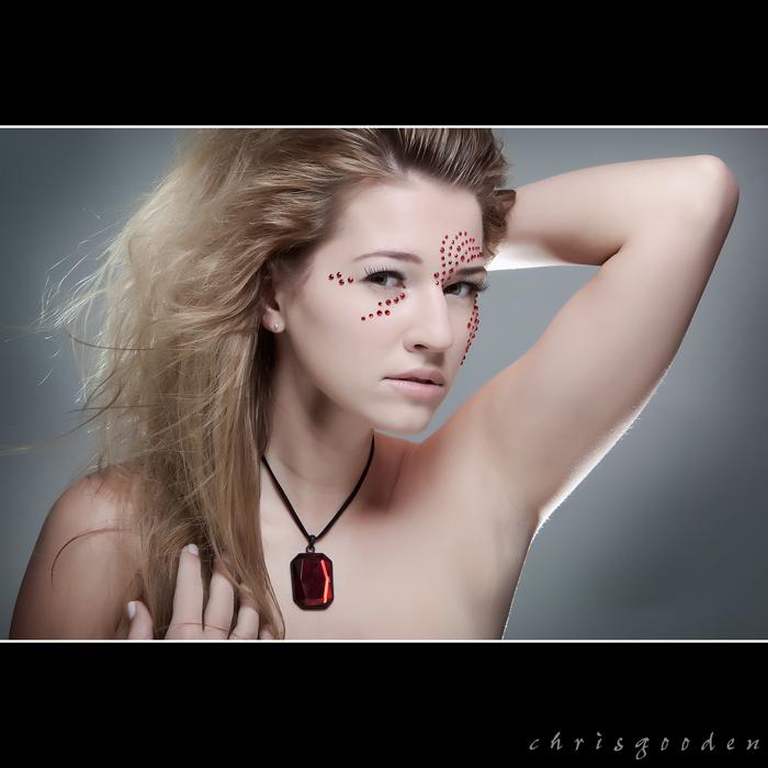 Female model photo shoot of Lenka Lukacova by c h r i s g o o d e n, makeup by Star Hair and Makeup