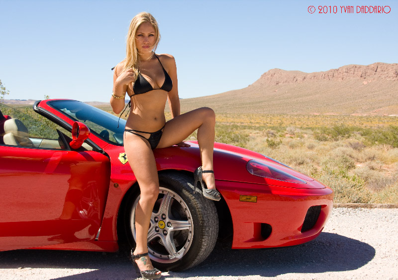 Nevada Desert Jun 01, 2010 Yvan Daddario Jade Bryce and the Ferrari 360 Spider