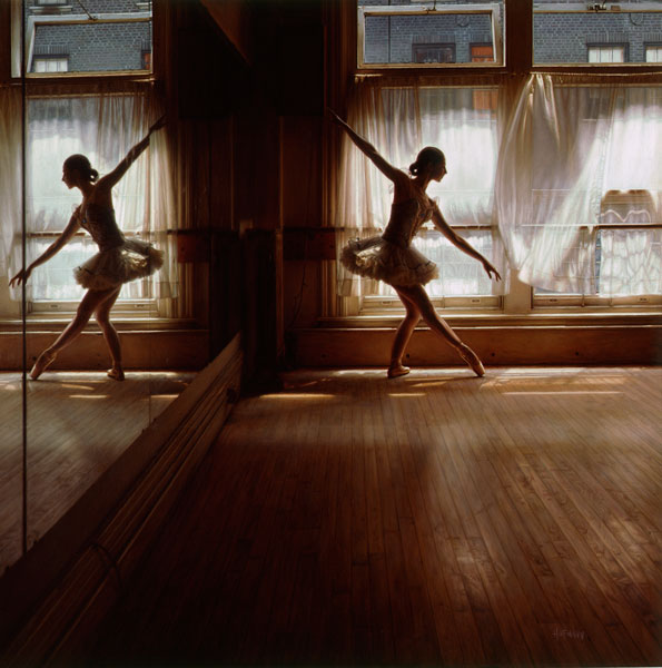 nyc Jun 06, 2010 dh-48x48 oil painting on canvas dancing at dusk