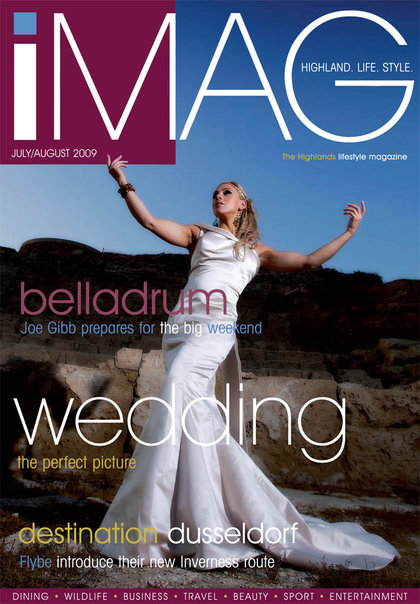 shot on location in Cyprus for Rene Avonya Bridal Couture Jun 06, 2010 iMag Scotland iMag magazine cover