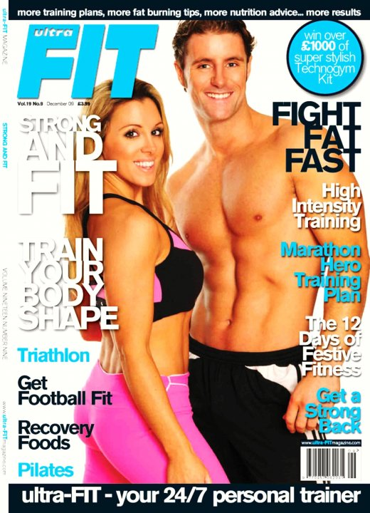 London UK Jun 06, 2010 Ultrafit Magazine cover shot for Ultrafit Magazine