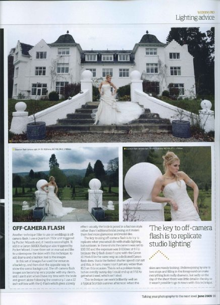 Scotland Jun 06, 2010 PhotoPro magazine Bridal feature Photopro Magazine