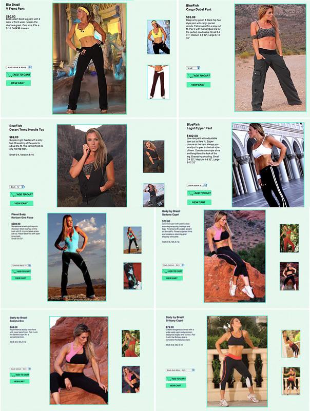 shot on location in Las Vegas Nevada USA Jun 06, 2010 BodyByBrazil fitness label Body By Brazil fitness label catalogue shoot