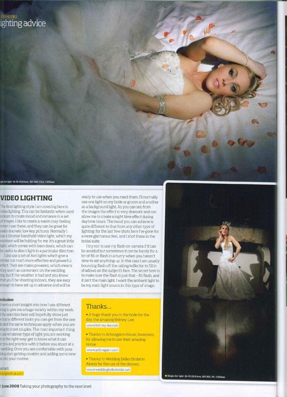 Scotland Jun 06, 2010 PhotoPro magazine WeddingPro feature