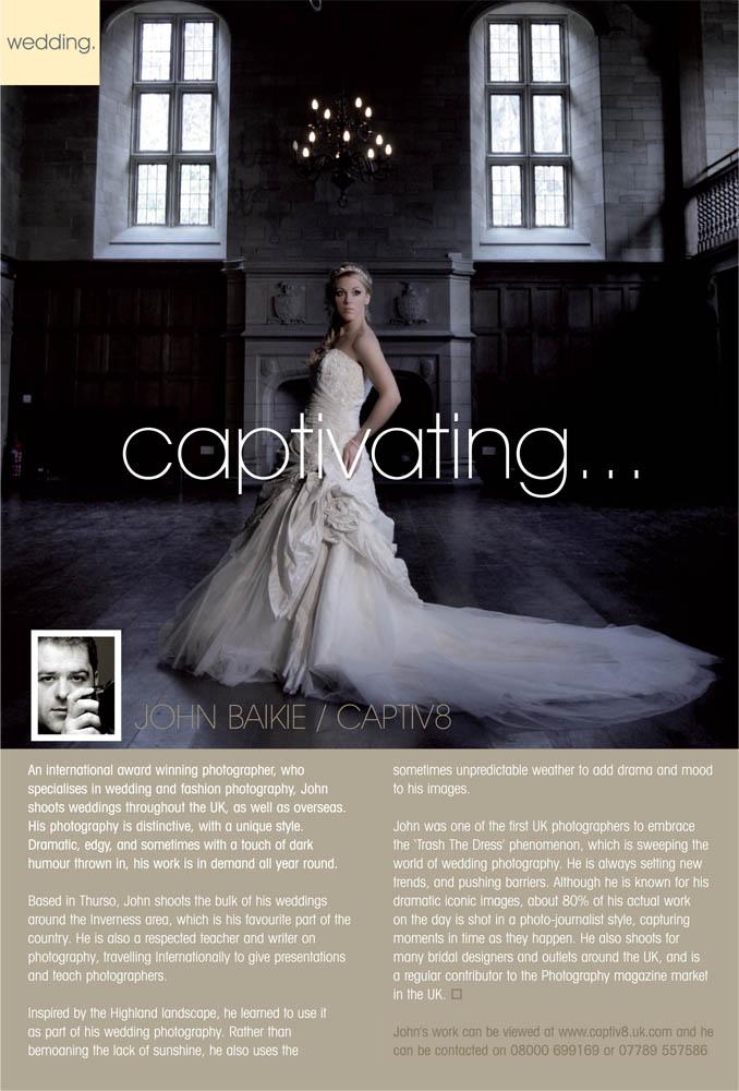 Scotland Jun 06, 2010 IMagazine IMag bridal photographer feature