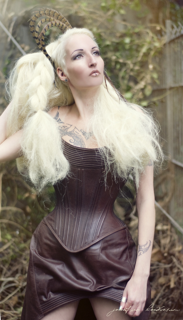 Female model photo shoot of ave_maria by Josefien Hoekstra in amsterdam, clothing designed by jeroen van der klis