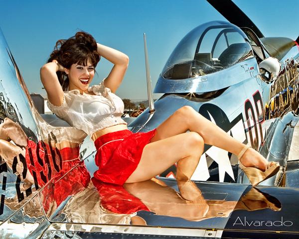 Gillespie Airfield, San Diego Jun 12, 2010 Robert Alvarado Playboy Playmate Claire Sinclaire