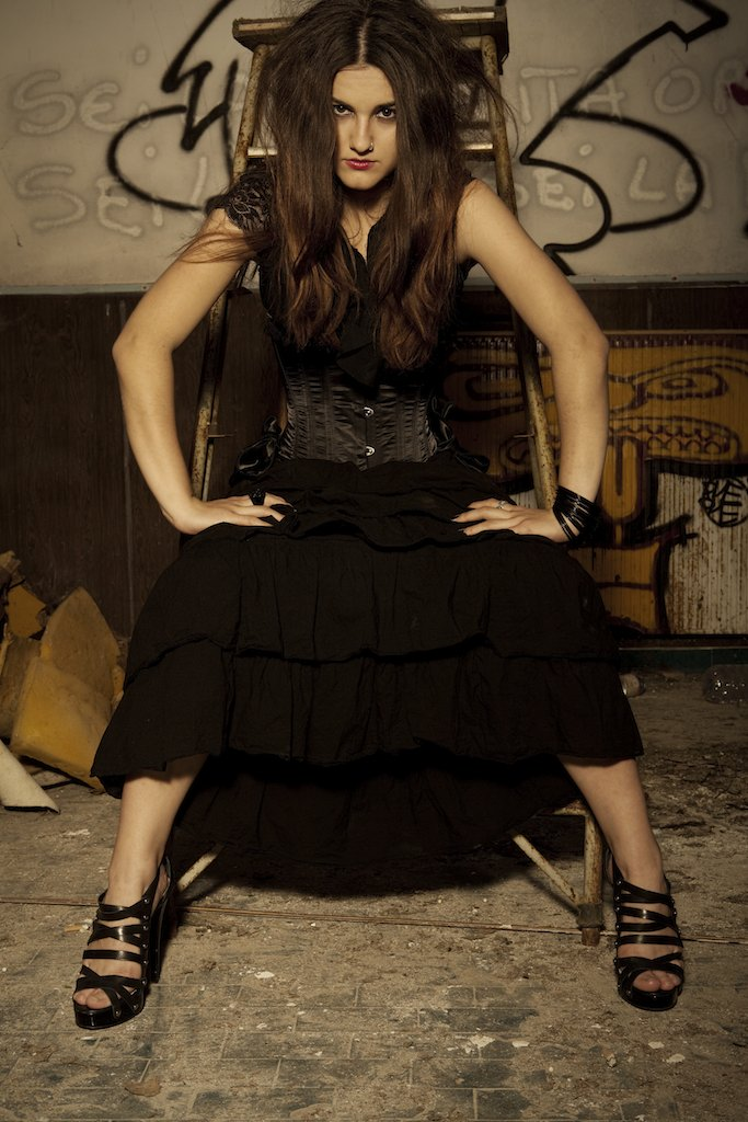 Female model photo shoot of Vicky Nessuno in Consonno