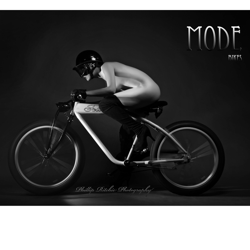 my studio Costa Mesa CA Jun 16, 2010 phillip ritchie poster for MODE  bikes with MM Model