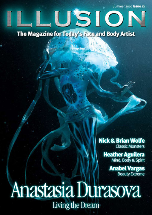 Jun 17, 2010 Cover of Illusion magazine Jelly Fish (under water body art)