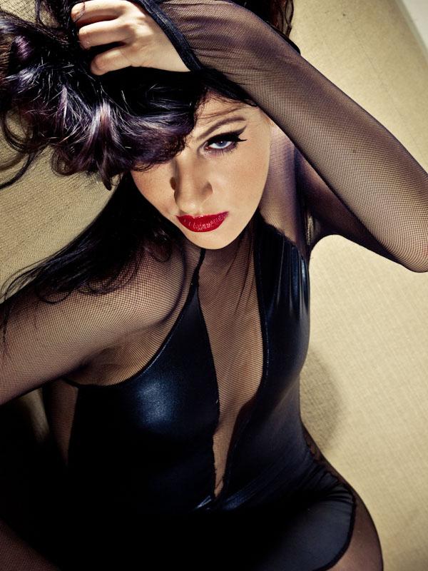 Female model photo shoot of Brandy Hellcat Noir by City Rich  in NYC