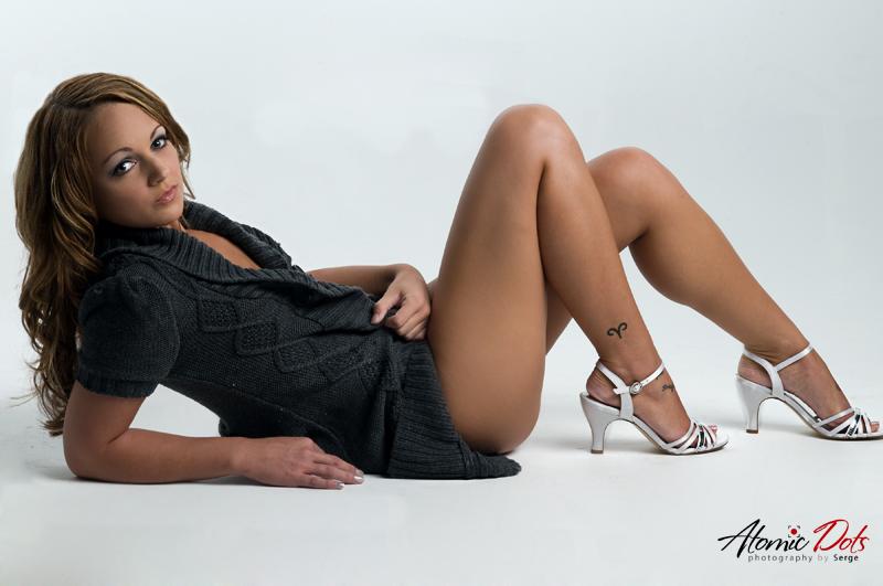 Female model photo shoot of Caitlynn OHara by Atomic Dots Photography