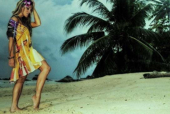 Tioman Island, Malaysia Jun 20, 2010 Romeo Pirez fashion label stormy seas