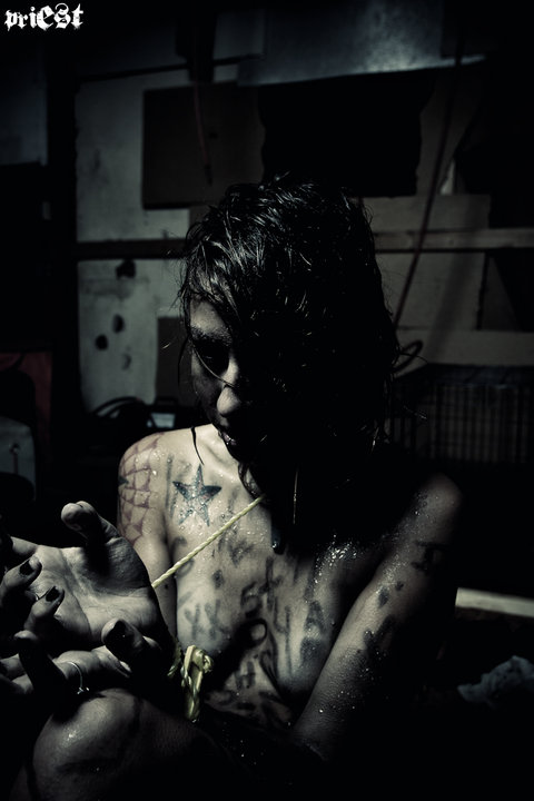 Female model photo shoot of Dementia Decay by Priest Studios in Pensacola studio