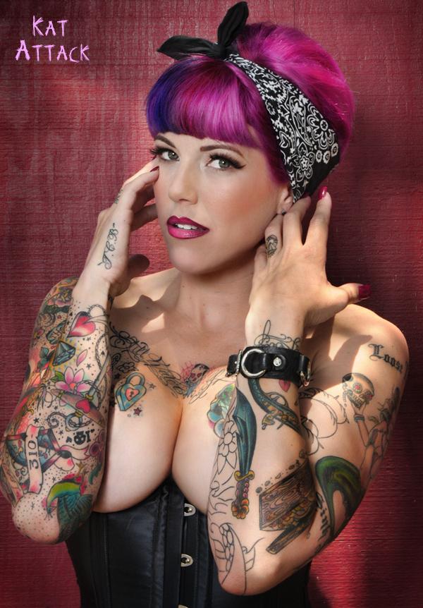 Napa, CA Jun 22, 2010 Kat Attack Pretty In Ink Tattoo Magazine Shoot