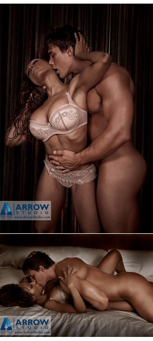 Cocoa Beach Jun 23, 2010 Arrow Studio Actress Enyta Romo and Mr. Model Universe 2009 Tyler Sarry