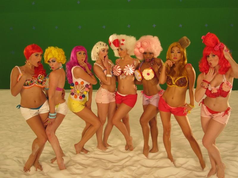 Los Angeles, California Jun 24, 2010 Dancers For Katy Perrys California Gurls video