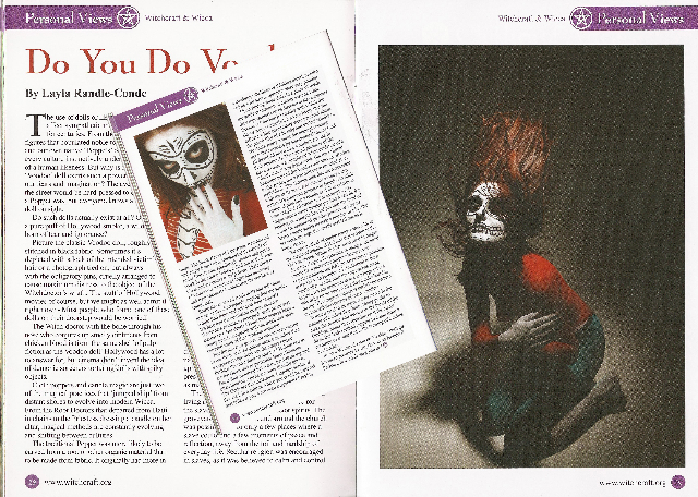 Ian Shipleys Studio Jun 24, 2010 Magazine Model Layla Wicca and Witch Craft Magazine