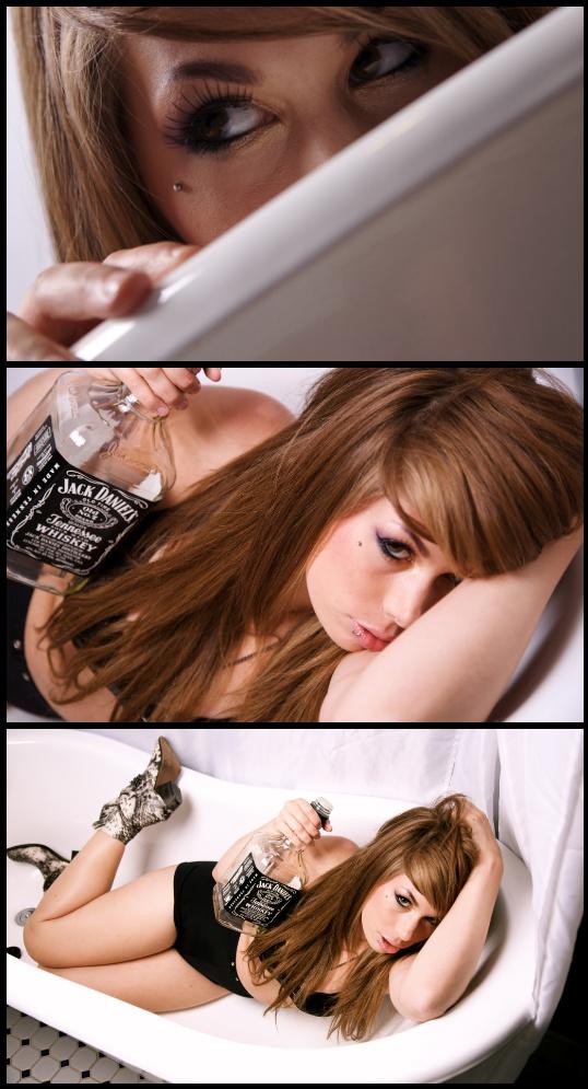 in his bath tub :p Jun 24, 2010 Jay Thomas Miss my real hair color D: