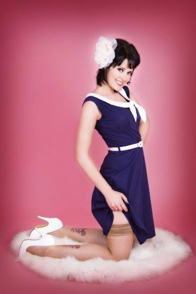 Female model photo shoot of Chevy Dean in Miss T Pinups