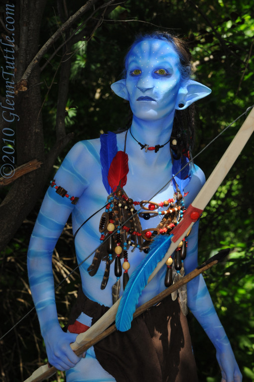 Anime Next 2010 Jun 28, 2010 Navi from Avatar. Prosthetics and airbrushing by Anatomy FX. Photo by Glenn Tuttle.