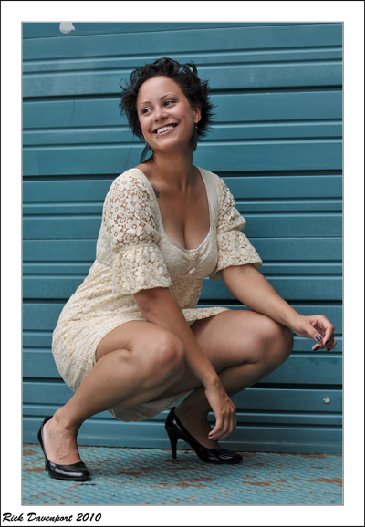 Female model photo shoot of sarah akridge by Rick Davenport in Downtown Kansas City
